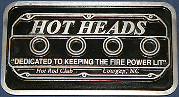 Hot Heads Club Plaque